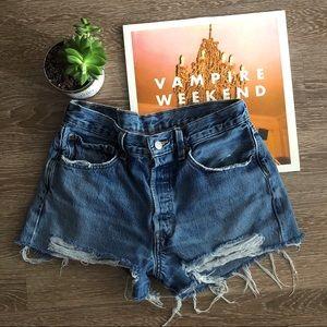 Vintage High Waist Size 28 Levi's Denim Shorts